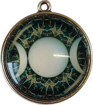 Triple Moon Dome Pendant