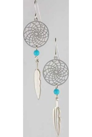 Dream Catcher Earring with Turquoise