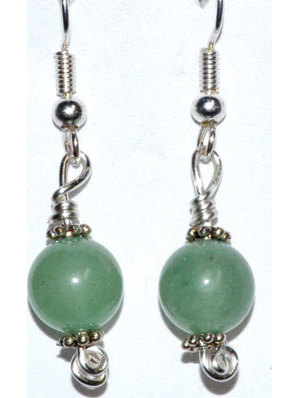 Green Aventurine dangle earrings