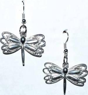 """1"""" Dragonfly earrings"""