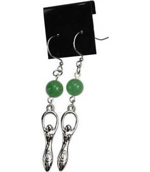 Green Aventurine Goddess Earrings