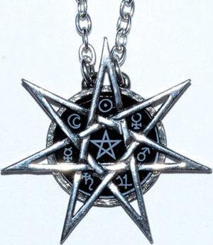 "1 3/4"" Elven Star pewter"