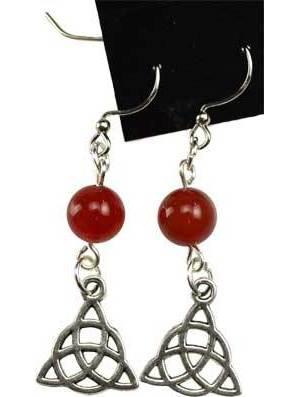 Carnelian Triquetra Earrings
