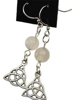 Fluorite Triquetra Earrings