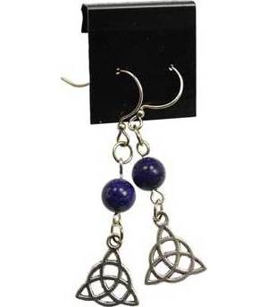 Lapis Triquetra Earrings
