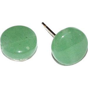 Green Aventurine stud earrings