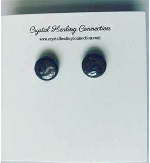 Bronzite stud earrings