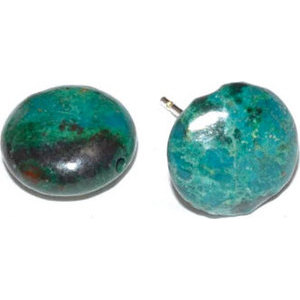 Chrysocolla stud earrings