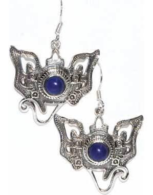 Ganesha lapis earrings