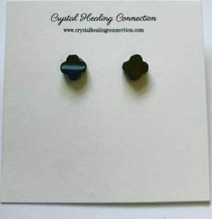 Hematite stud earrings