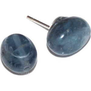 Blue Kyanite stud earrings