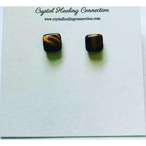 Tigers eye stud earrings