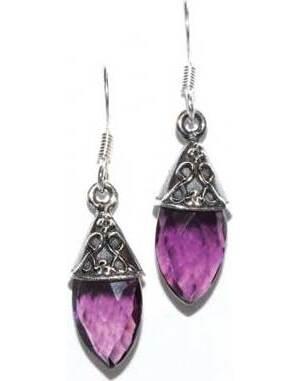 Teardrop amethyst earrings