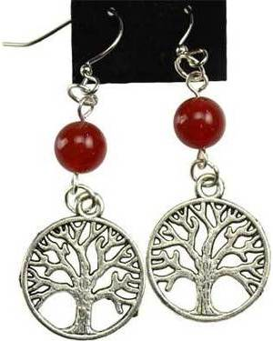 Carnelian Tree of Life Earrings