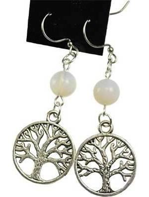 Opalite Tree of Life Earrings