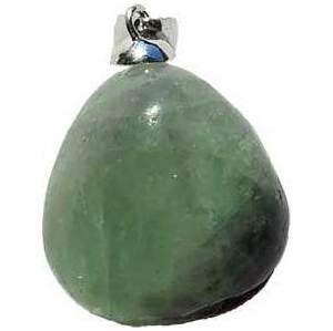 medium Fluorite tumbled pendant
