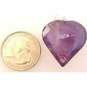 "1"" Amethyst Heart Pendant"