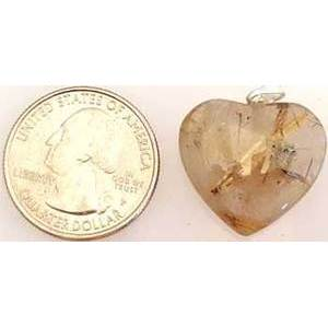 "1"" Rutilated Quartz Heart Pendant"