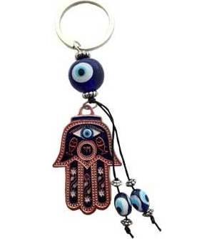 Hand Evil Eye Keychain