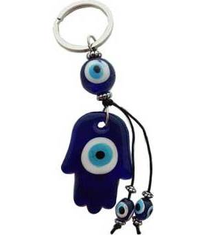 Fatima Evil Eye Keychain