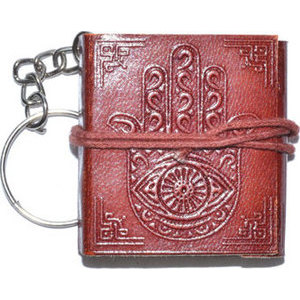 "1 3/4"" x 2"" Hasma Hand journal key chain"