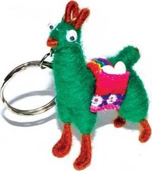 Money Llama key ring