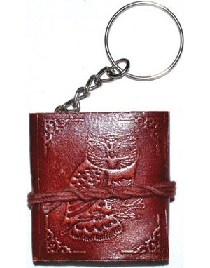 "1 3/4"" x 2"" Owl journal key chain"