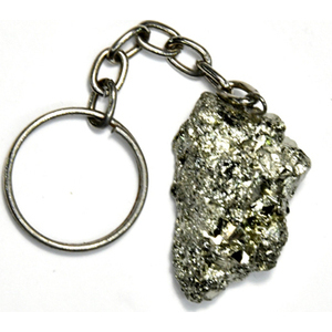 Pyrite keychain
