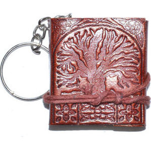 "1 3/4"" x 2"" Tree of Life journal key chain"