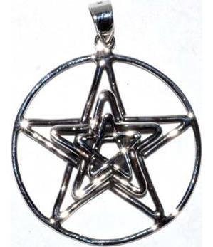 "11/16"" Pentagram 3D sterling"