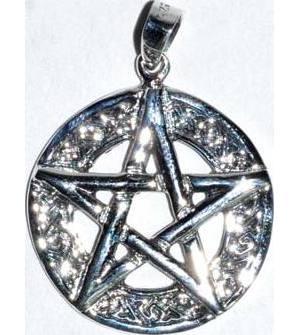 "7/8"" Pentagram Celtic sterling"