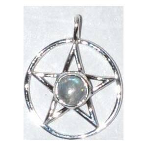 "11/16"" Pentagram Moonstone sterling"
