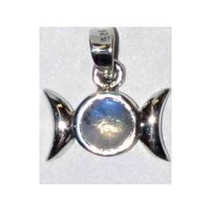 """9/16"""" Triple Goddess Moonstone sterling"""