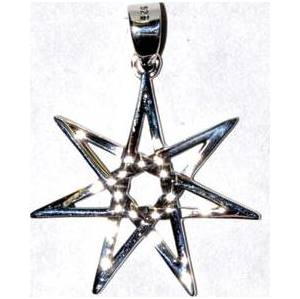 "1"" 7 Pointed Star sterling"