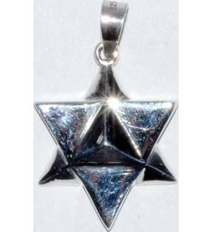 "3/4"" Star Tetrahedron sterling"