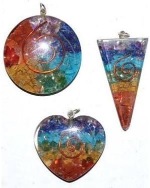 Orgone Chakra spiral (set of 3)