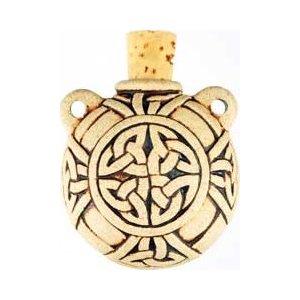 Celtic Knot Raku Bottle