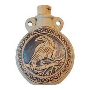 Raven Raku Oil Bottle