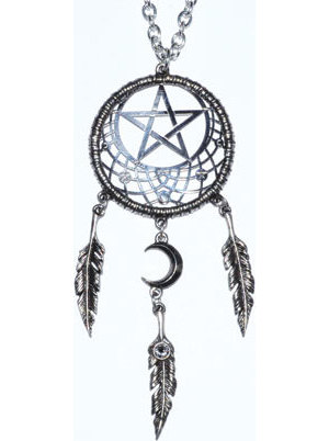 "4 1/4"" Pagan Dream Catcher pewter"