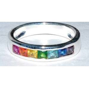 Rainbow size 8 sterling