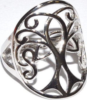 Celtic Tree size 7 sterling ring