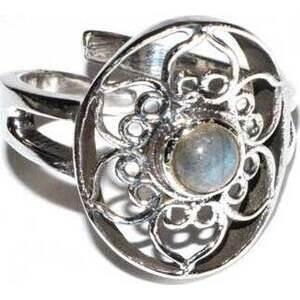 lotus labradorite adjustable ring