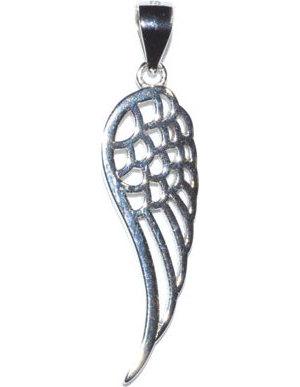 "1 1/4"" Angel Wing sterling pendant"