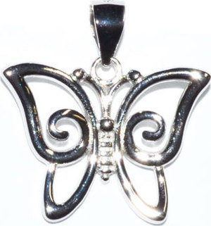 "3/4"" Butterfly sterling pendant"