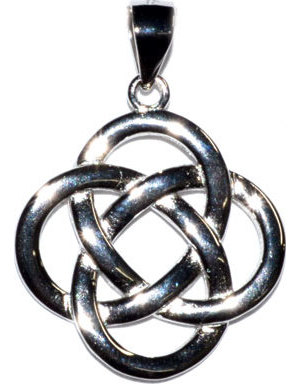 "3/4"" Celtic Knot sterling pendant"