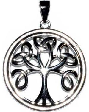 "15/16"" Celtic Tree of Life sterling pendant"
