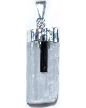Selenite W/ Tourmaline pendant