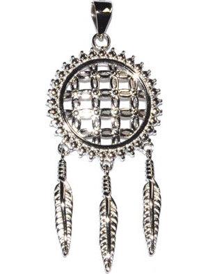 "3/4"" Flower of Life Dreamcatcher sterling pendant"