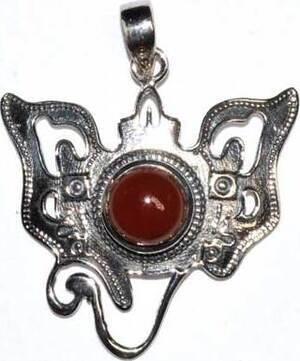 Ganesha carnelian pendant