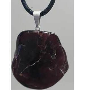 Garnet slice pendant